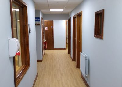 Emergency COVID-19 Clinical Decision Centre at Leatherhead Community Hospital